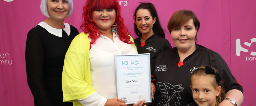 Caitlin Takes 3rd Place at Salon Cymru