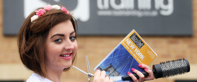 Big Apple Beckons Bargoed Hairdressing Apprentice Kelly
