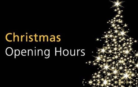 Christmas Opening Hours 2015