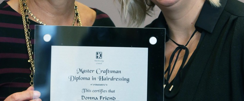 Master Craftsman award for hairdressing salon co-owner Donna